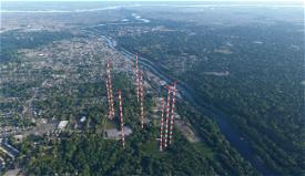 Radio Towers 6miles N of Philadelphia Image Flight Simulator 2020