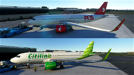 PosLaju & Citilink Garuda Microsoft Flight Simulator