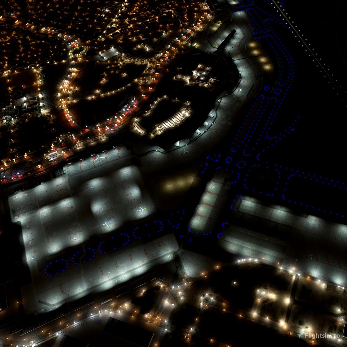 Madrid Barajas (LEMD) Night Light Enhancement