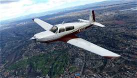 White Gold and Maroon Livery for Carenado Mooney Microsoft Flight Simulator