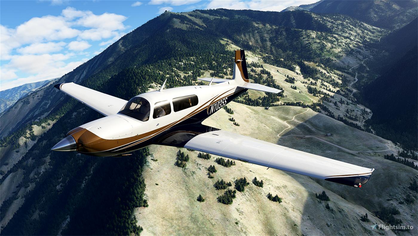 Gold and Dark Blue Livery for Carenado Mooney Microsoft Flight Simulator