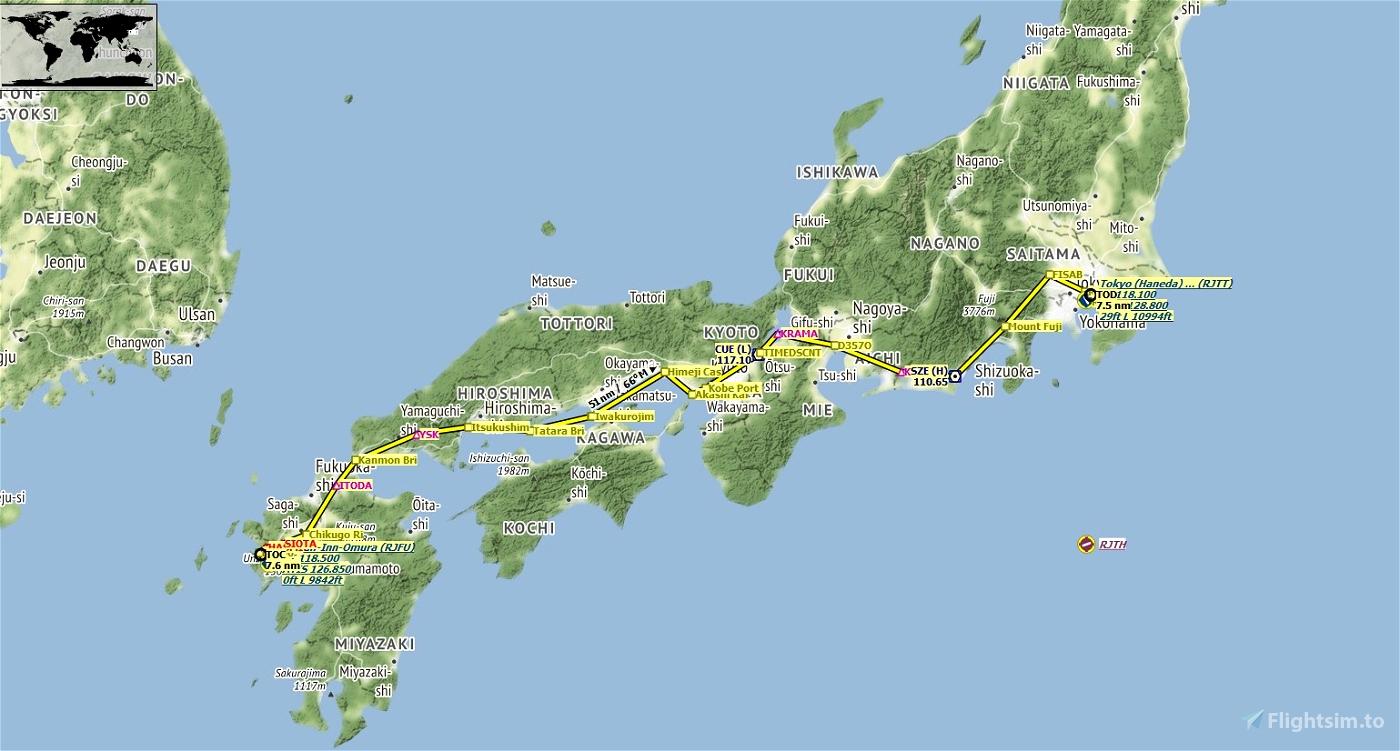FS2020 Japan World Update Flight
