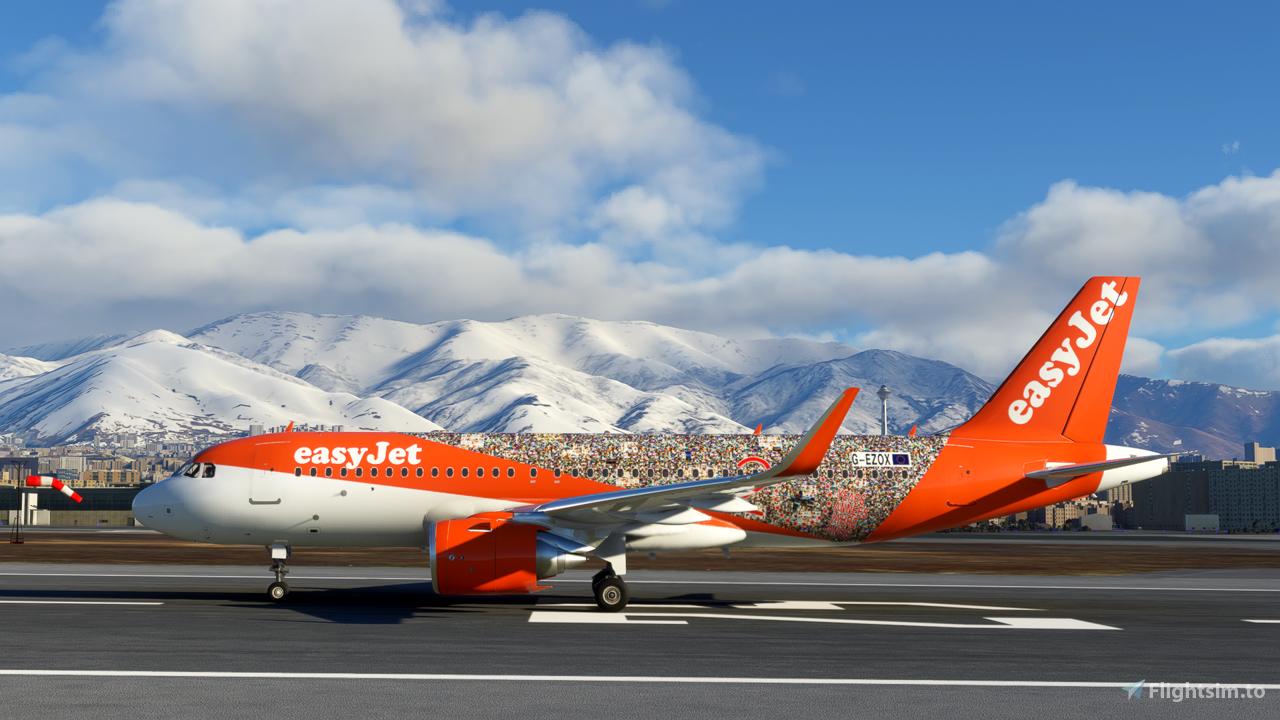 EasyJet 20 Years (G-EZOX) A320 Neo - 8K Flight Simulator 2020