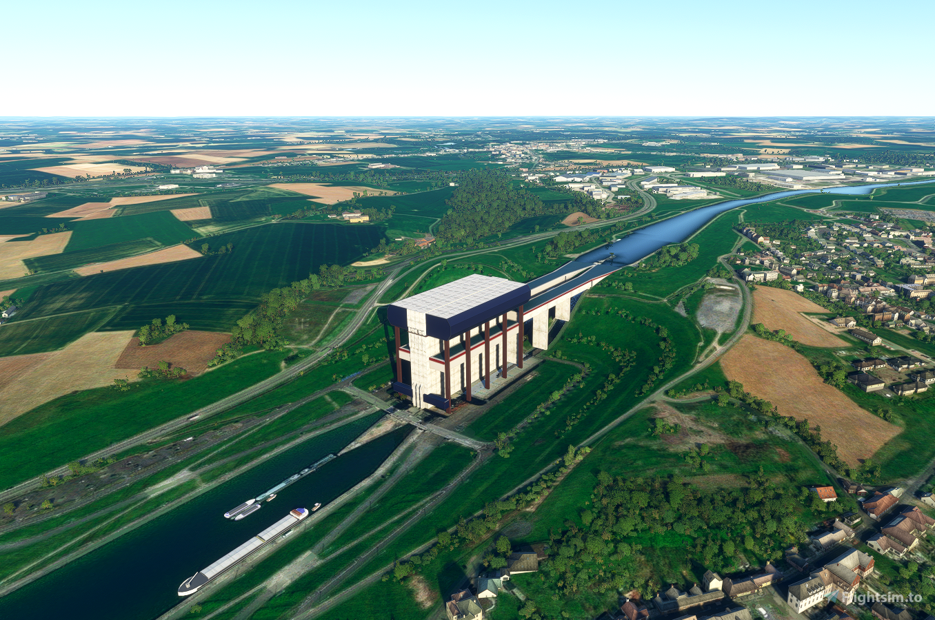 Ascenseur funiculaire de Strépy-Thieu Flight Simulator 2020
