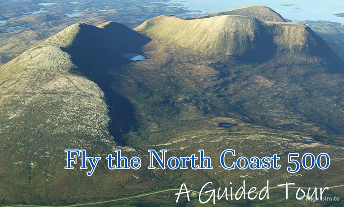 Scotland's North Coast 500 road trip by air Flight Simulator 2020