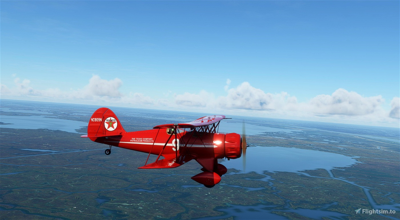 Waco YMF-5 NC809N Texaco Flight Simulator 2020