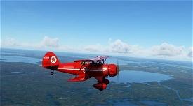 Waco YMF-5 NC809N Texaco Image Flight Simulator 2020