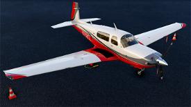 Red / Black / Grey livery for Carenado Mooney Image Flight Simulator 2020