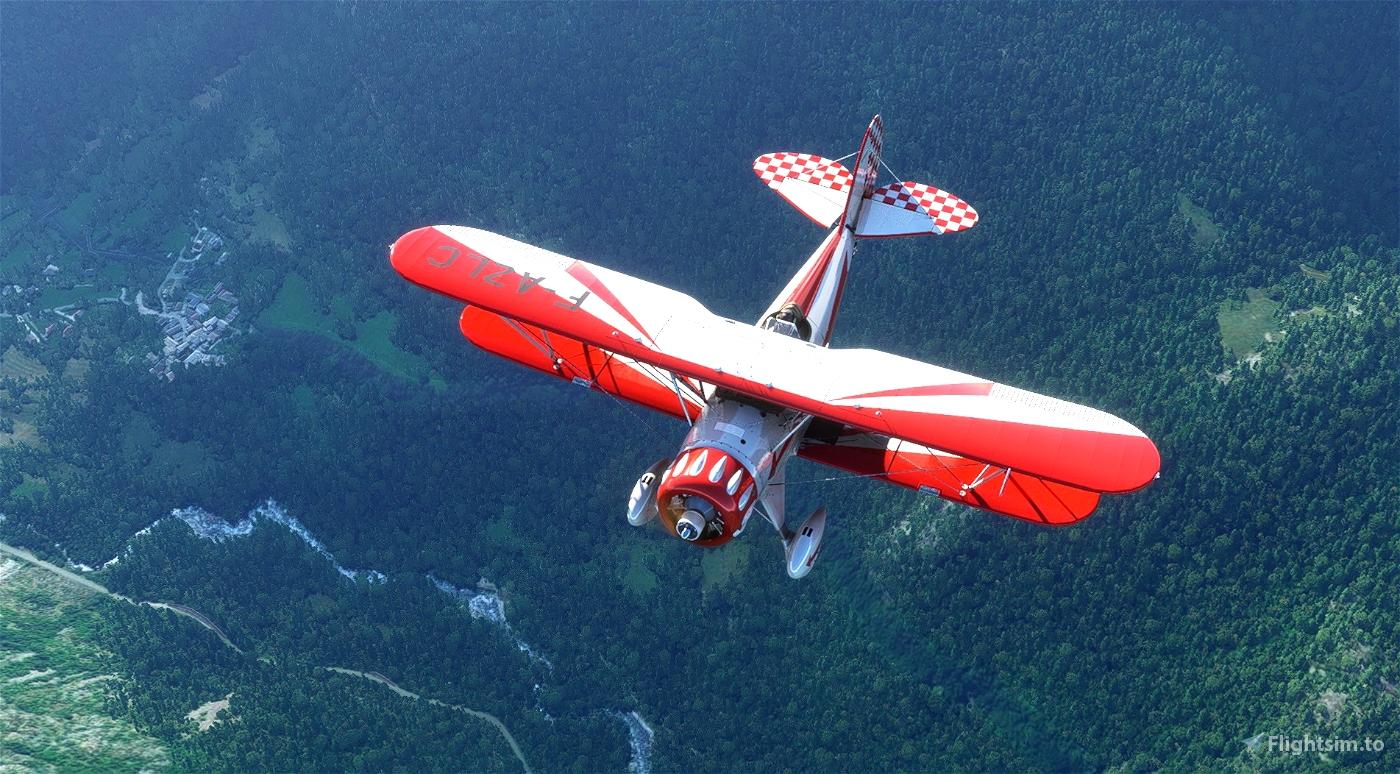 Waco YMF-5 F-AZLC Flight Simulator 2020