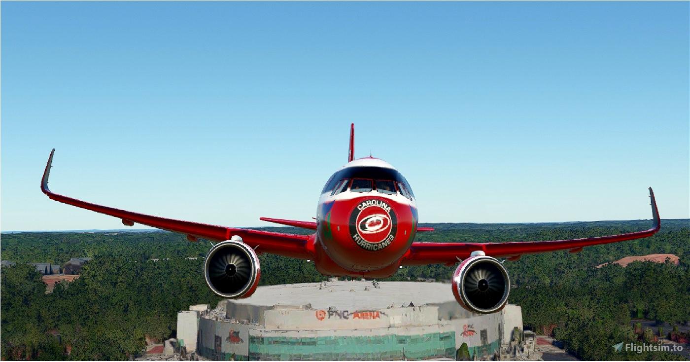Carolina Hurricanes NHL A320Neo Livery