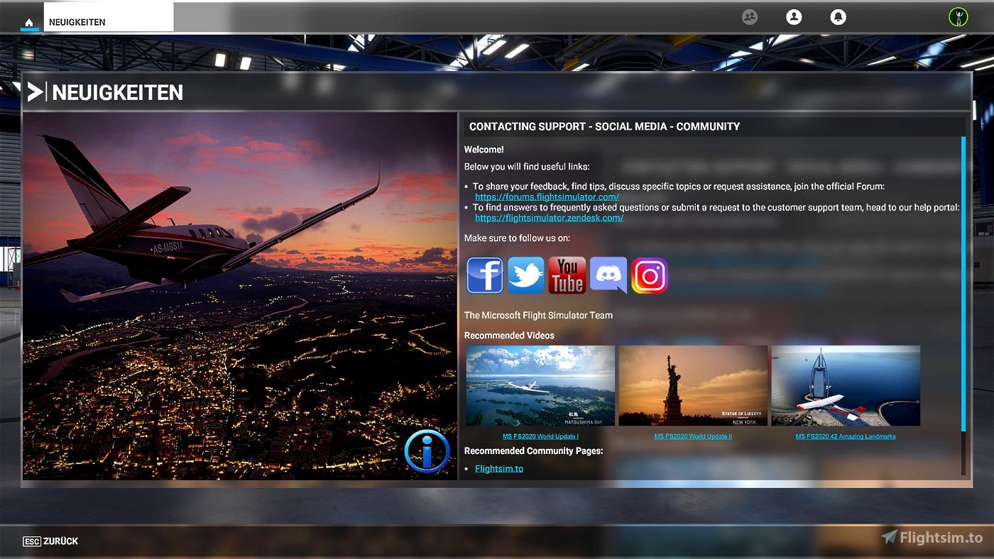 MS FS 2020 - Modern UI