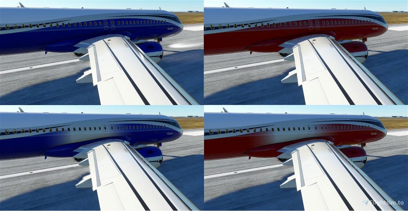 ACJ320neo colored wave designs  Flight Simulator 2020