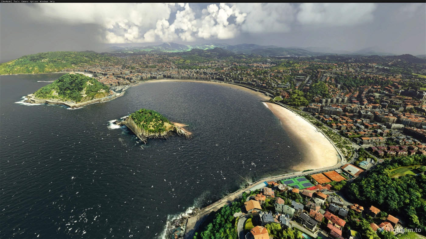San Sebastián, País Vasco, Spain Microsoft Flight Simulator