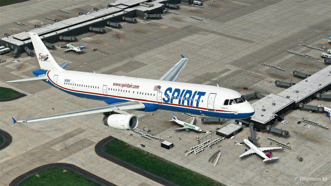 Spirit Airlines A321 (Original Livery) Flight Simulator 2020