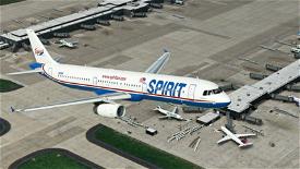 Spirit Airlines A321 (Original Livery) Image Flight Simulator 2020
