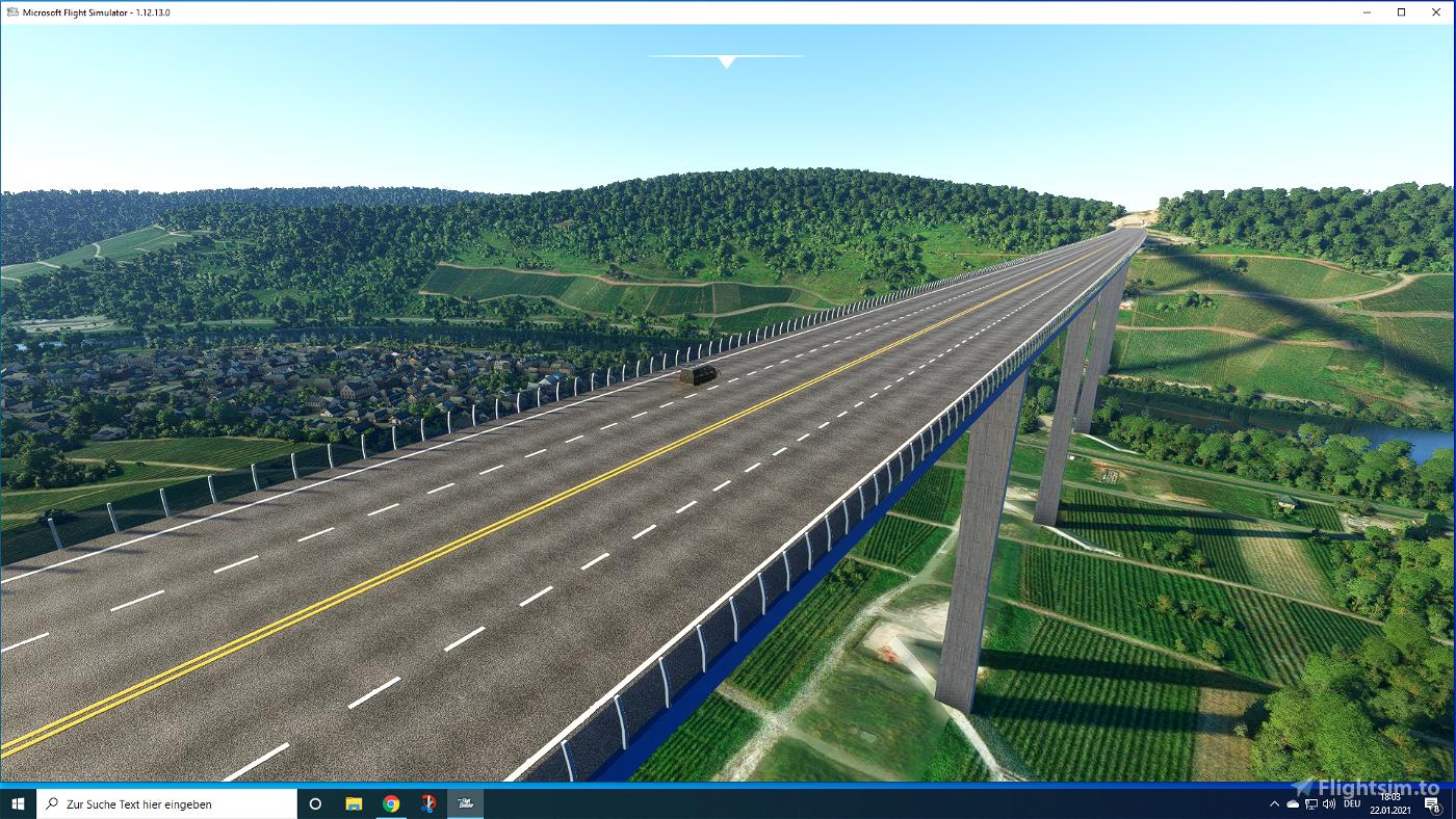 Hochmoselbrücke B50 Flight Simulator 2020