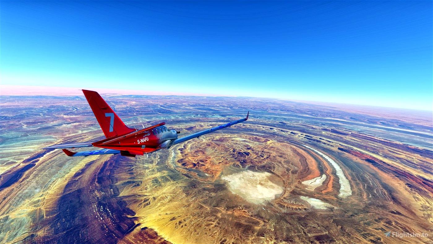 The Eye of Africa, Richat airport Flight Simulator 2020