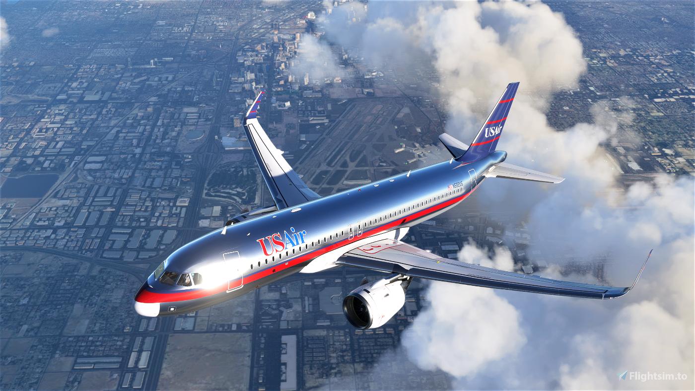UsAir A320Neo (Silver Colors) Flight Simulator 2020
