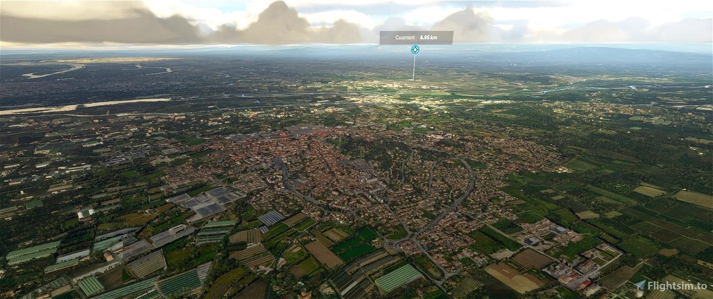 Châteaurenard city, France Flight Simulator 2020