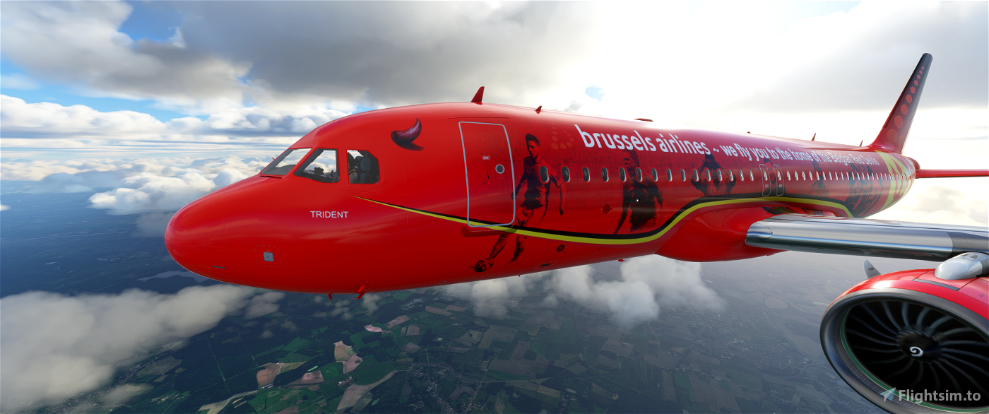 [8k] A320 Neo Brussels Airlines - SN Trident