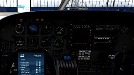 Piper PA44 Seminole - Cleaner and less worn Interior (incl. Darker Cockpit Panel) Image Flight Simulator 2020