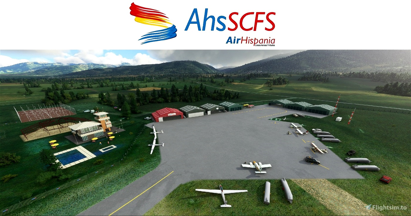 LECD La Cerdaña aerodrome (Gerona) Flight Simulator 2020