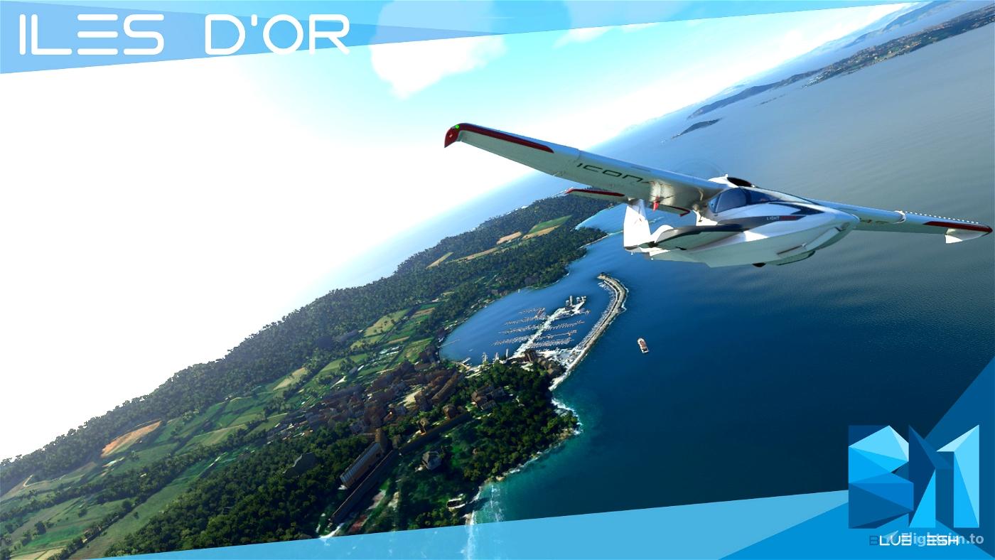 Iles d'or [ Porquerolles / Port-Cros / Ile du Levant  ) Flight Simulator 2020