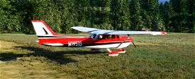 C172 Classic - Reims inspired red and black. Image Flight Simulator 2020