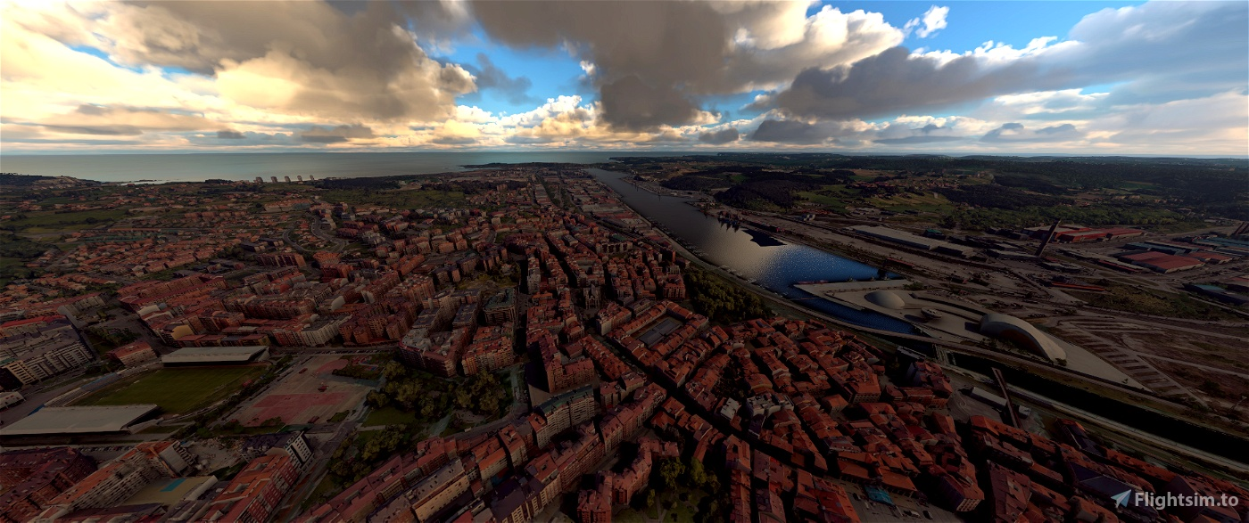 Aviles,Spain Flight Simulator 2020