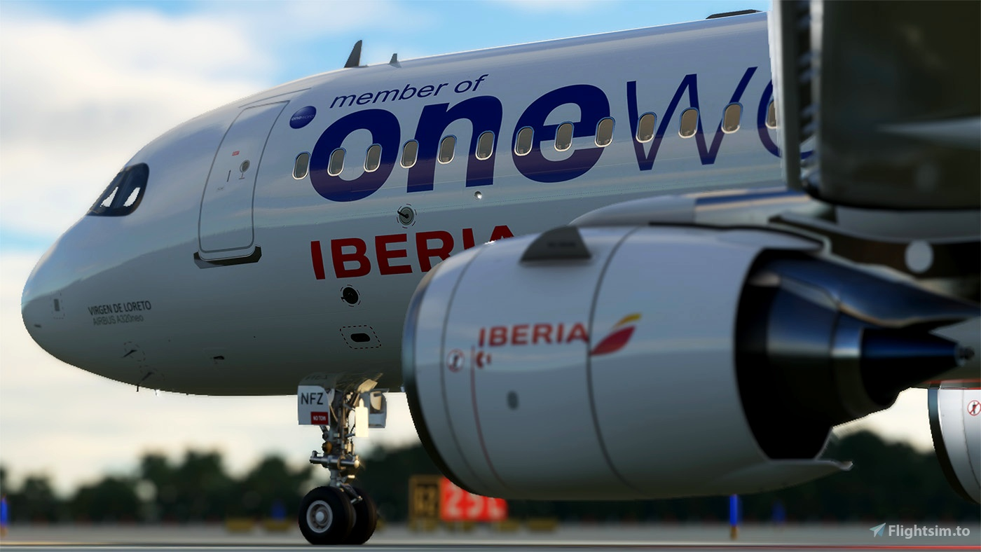 Iberia Oneworld A320 neo EC-NFZ 8K Flight Simulator 2020