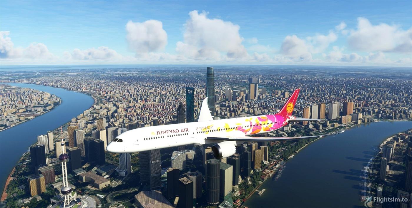 Juneyao Air Colorful Petals B787-10 Flight Simulator 2020