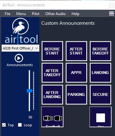 First Officer Audio of A320neo Checklist for Air Tool