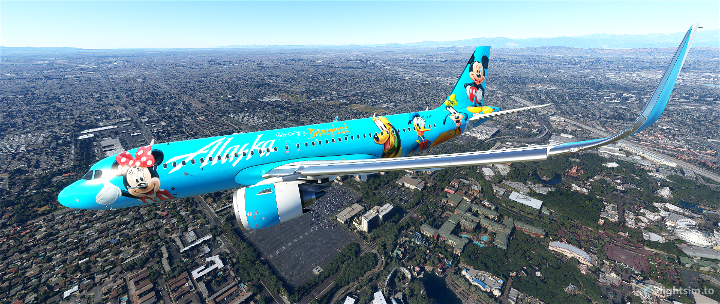 Alaska Airlines Disneyland edition