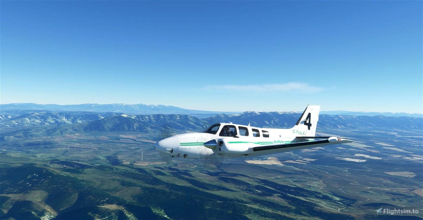 Buffalo Airways C-FULX Beechcraft Baron G58