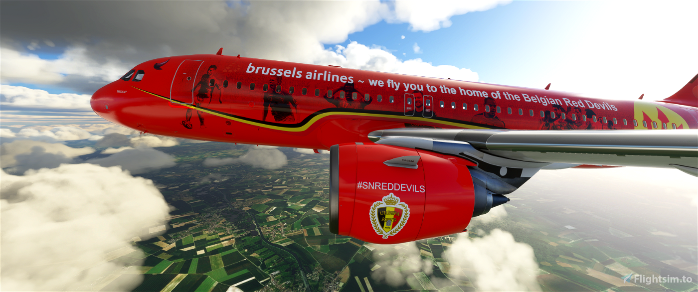 [8k] A320 Neo Brussels Airlines - SN Trident Flight Simulator 2020