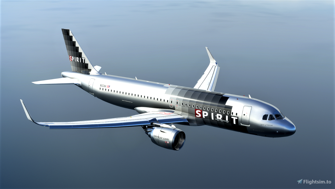 Spirit Airlines A320Neo (Silver Checkers) - [8K] Flight Simulator 2020