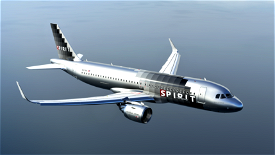 Spirit Airlines A320Neo (Silver Checkers) - [8K] Image Flight Simulator 2020
