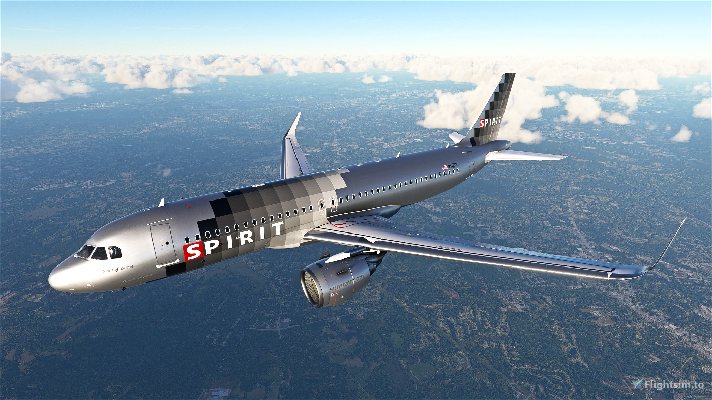 Spirit Airlines A320Neo (Silver Checkers) - [8K]