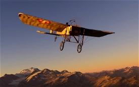 Bleriot XI 'Langenbruck' livery flown by Oskar Bider Microsoft Flight Simulator