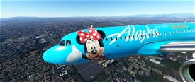 Alaska Airlines Disneyland edition Image Flight Simulator 2020