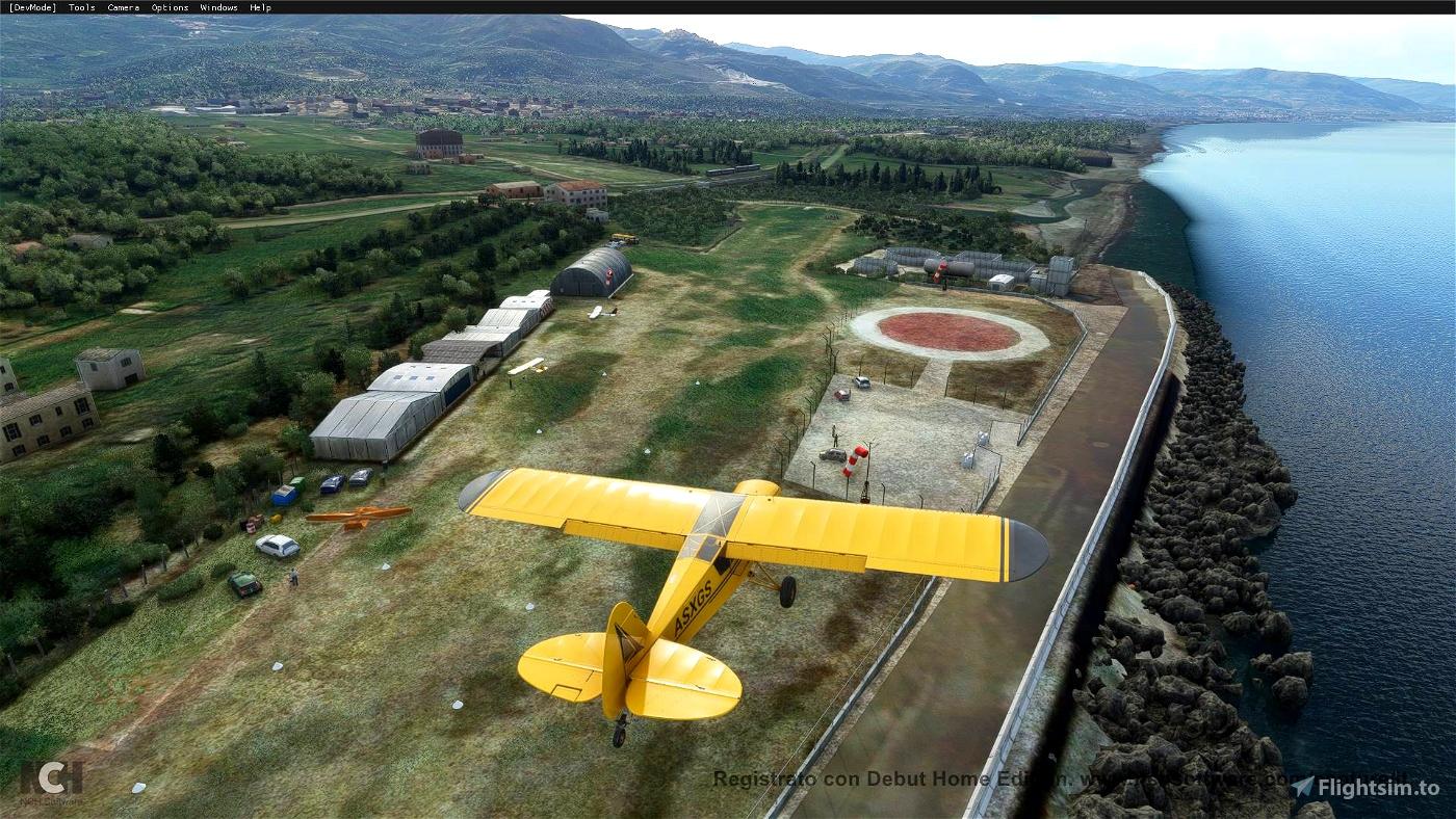 MECOR_Capo d'Orlando airfield (near Aeolian Islands - Sicily)