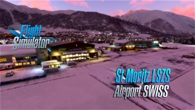 Saint Moritz - Samedan Airport LSZS   (Swiss) v2.0 Image Flight Simulator 2020
