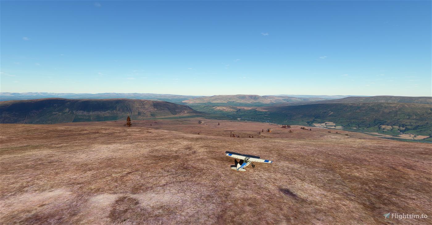 Yorkshire Dales peaks flight plan