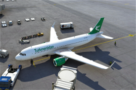 Turkmenistan Airlines Airbus A320neo Image Flight Simulator 2020