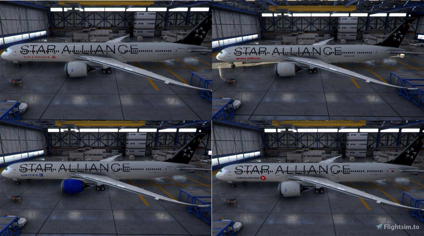 Star Alliance 787-10 |  Package include 25 liveries! | [4K]