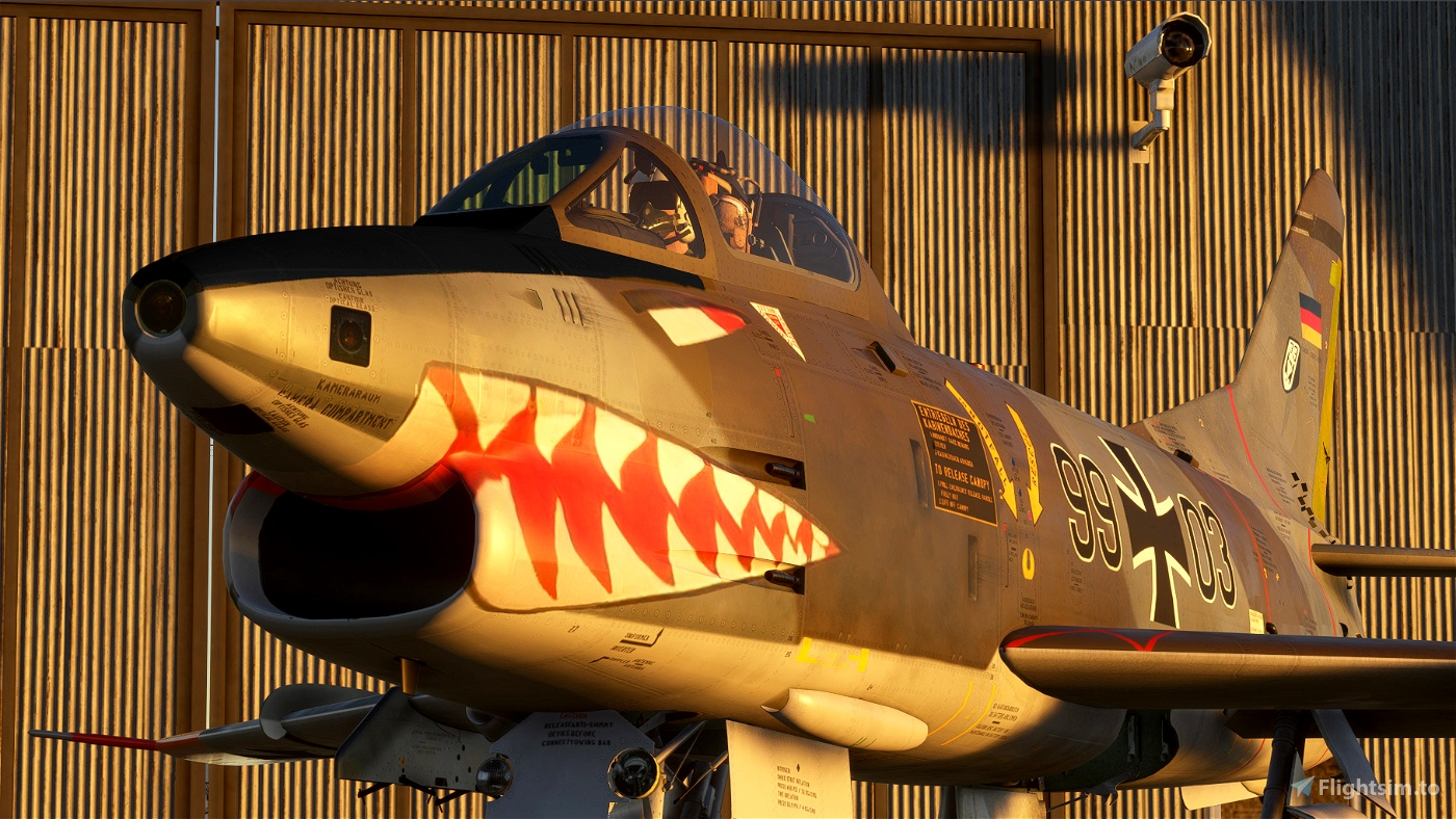 "Aeritalia Fiat Dornier G-91 ""Gina"" - Livery - Luftwaffe  99+03 JaboG33  Flight Simulator 2020"
