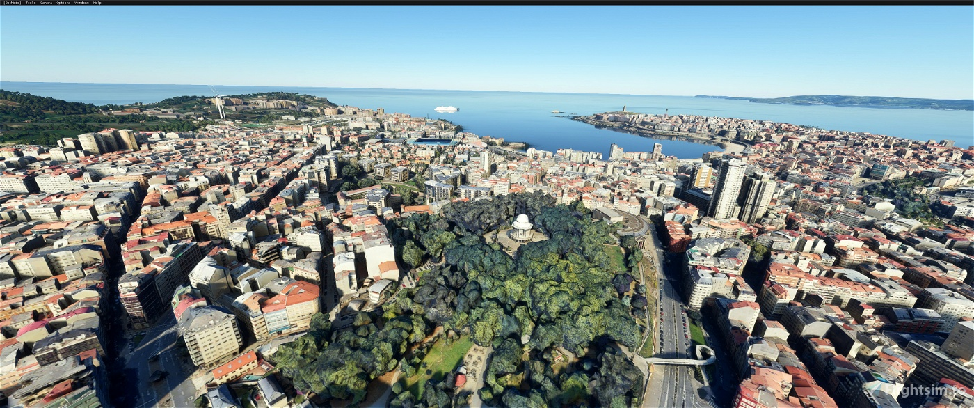 A Coruna,The galicia region of  Northwest Spain Microsoft Flight Simulator