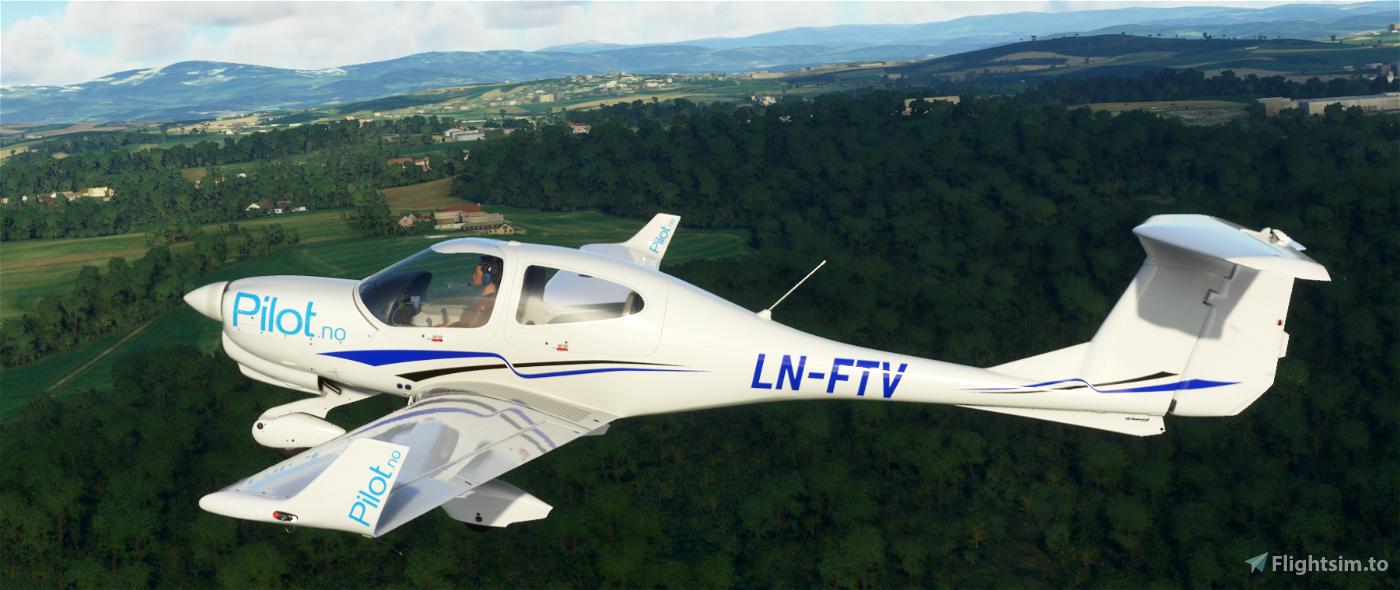 DA40 Pilot Flight Academy Norway Flight Simulator 2020