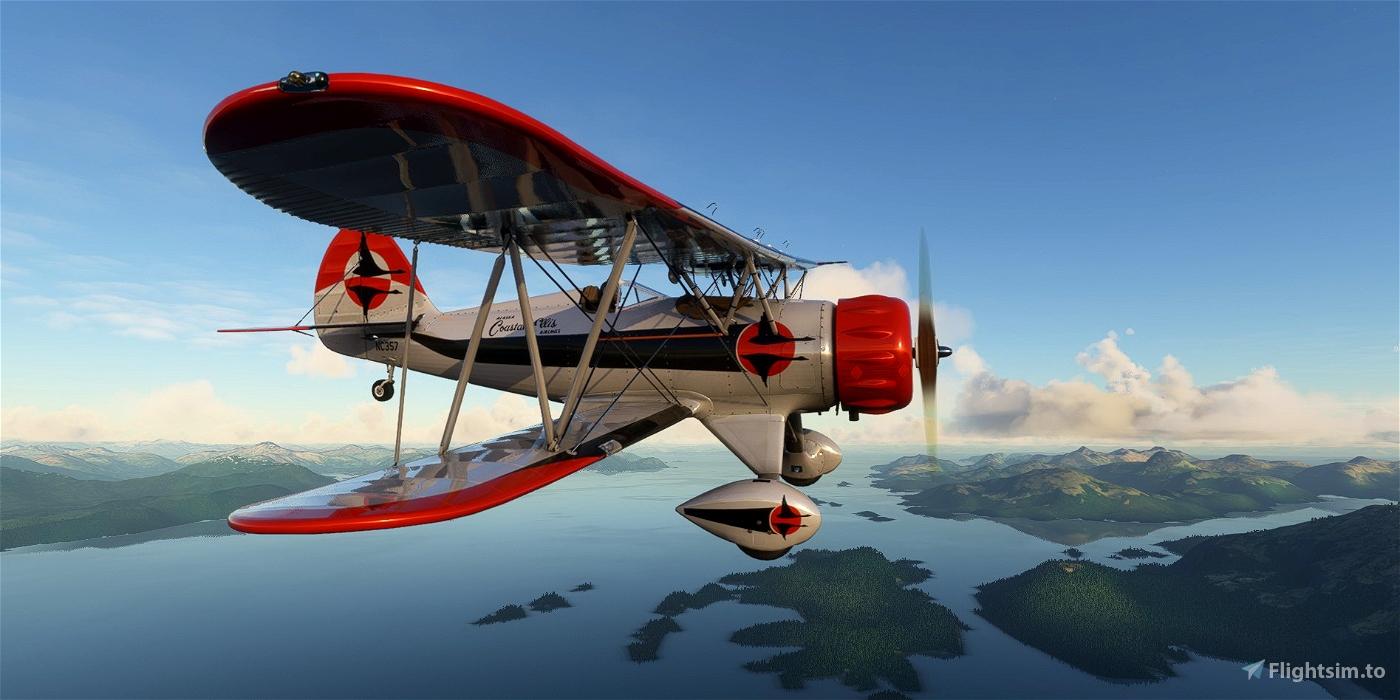 Waco YMF-5 NC357 Alaska Coastal Ellis Airways Flight Simulator 2020