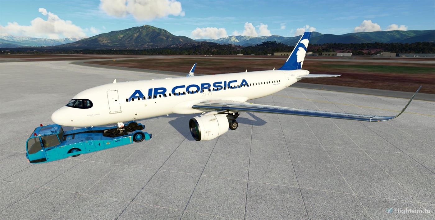 Air Corsica A320Neo F-HXKJ Flight Simulator 2020